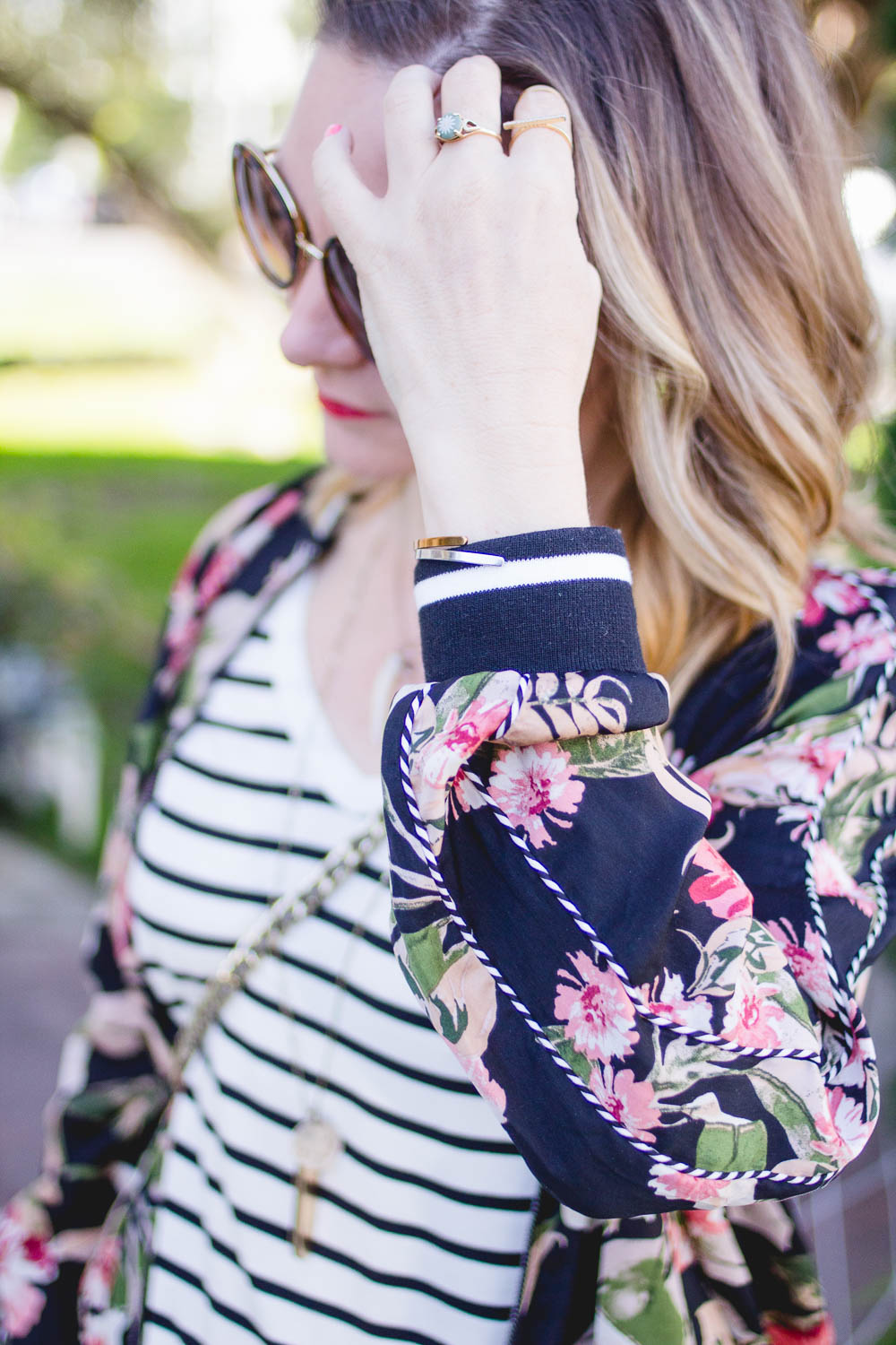 Casual Spring Style Florals and Stipes