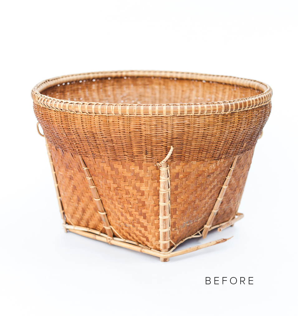 Upcycled basket beforef