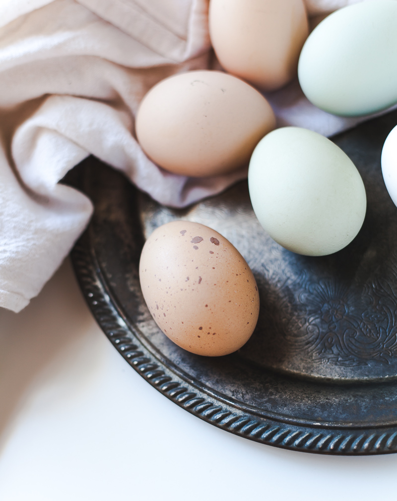colorful farm eggs