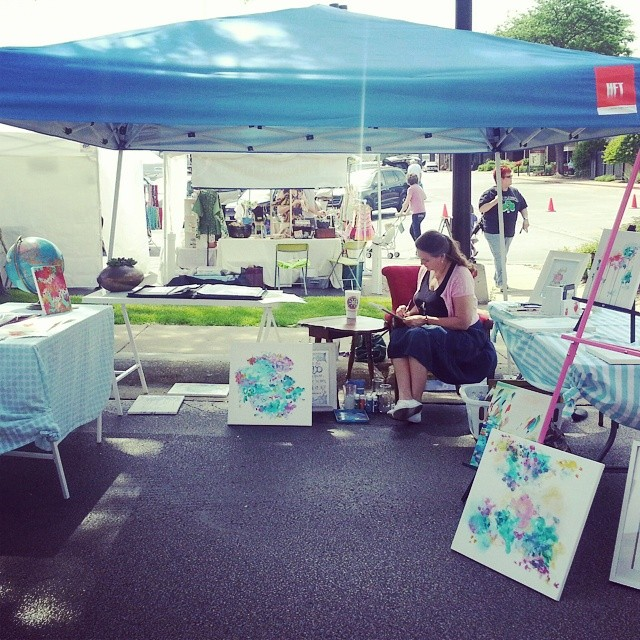 It's a beautiful day to be in an art & craft fair! #artsy2014 #jackielynnart #edgebrook