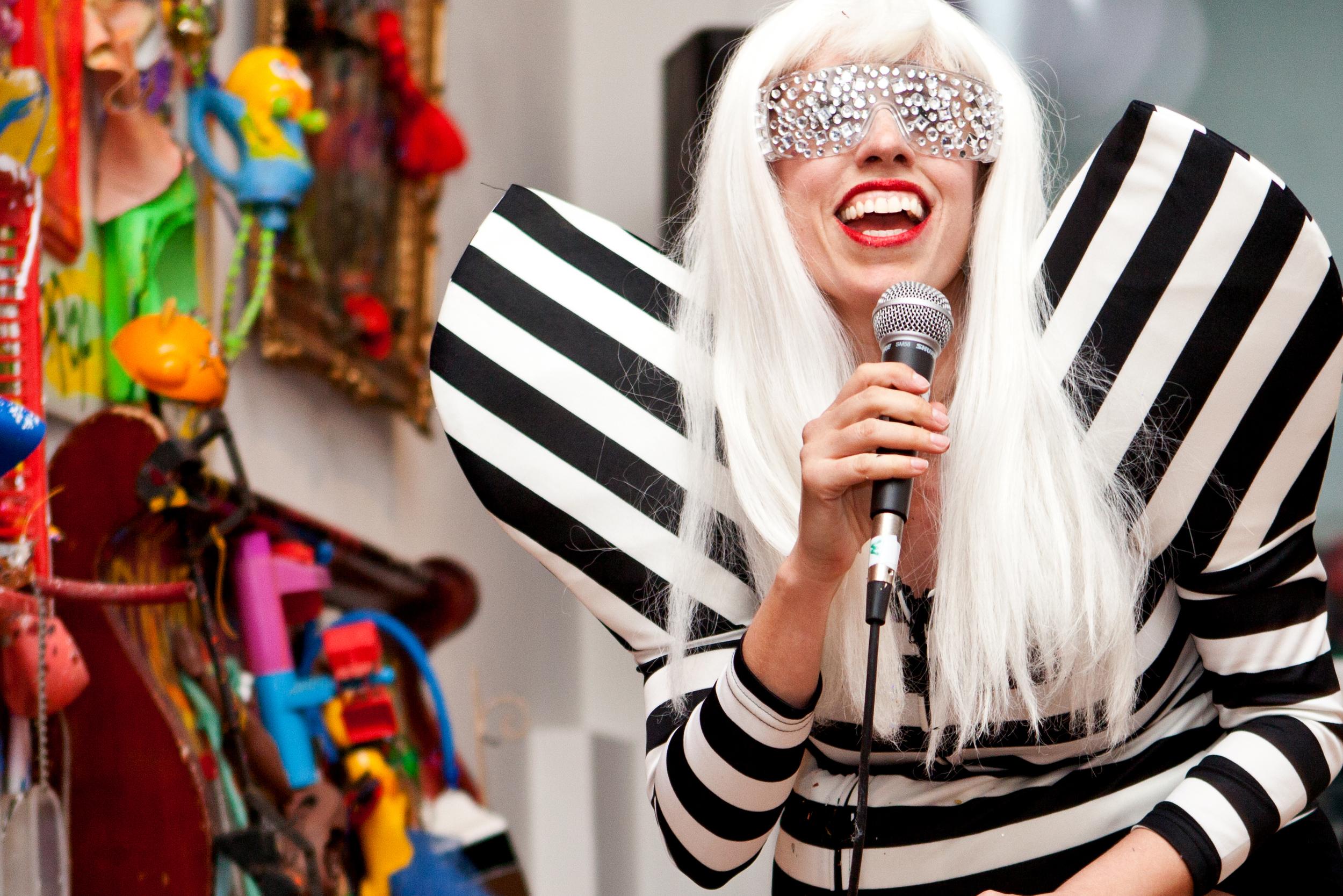 Athena Reich as Lady Gaga in #ARTBIRTH