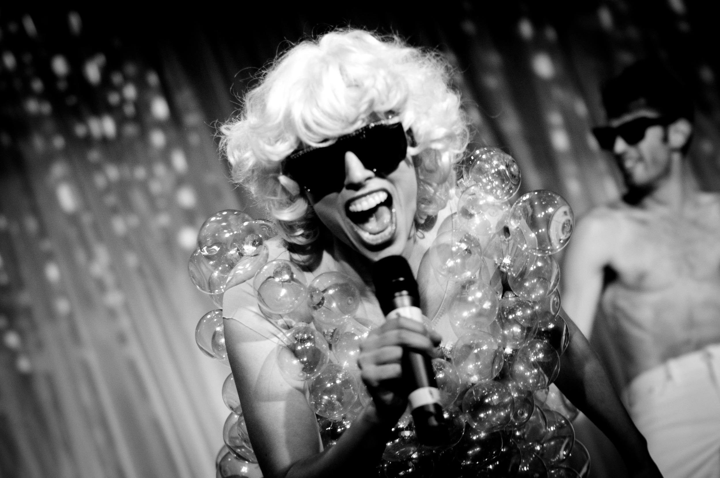 Performing live as Lady Gaga