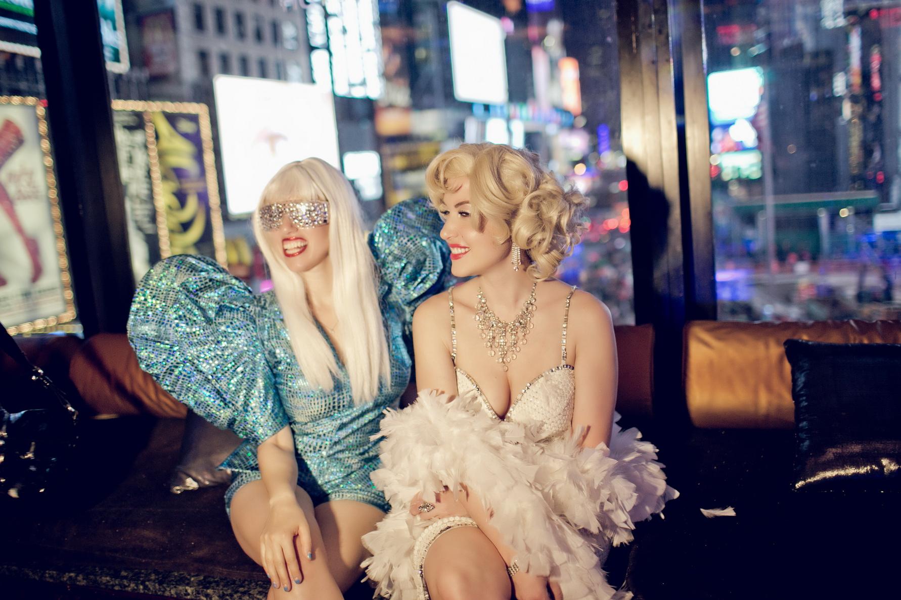 Athena as Gaga with Erika Smith as Marilyn Monroe