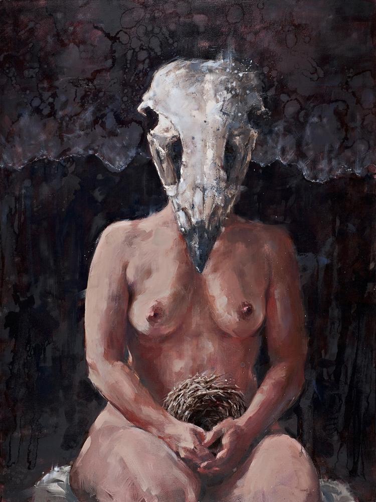 "Aerie. 2013. Oil.40""x 36"""