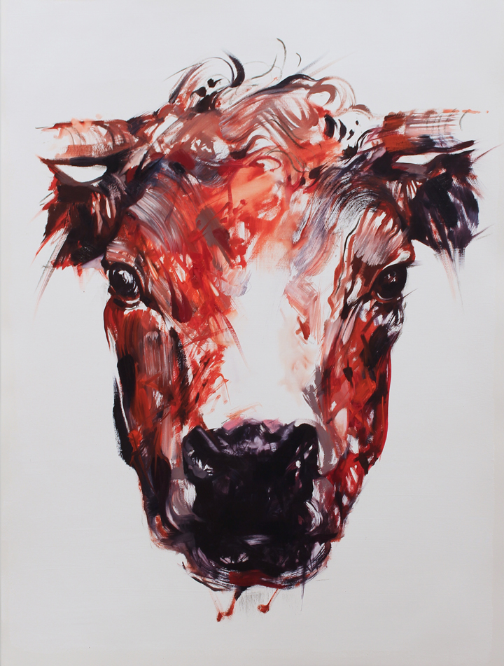 "Which One Doesn't Belong (Bovine). 2015. Oil. 30""x22"""