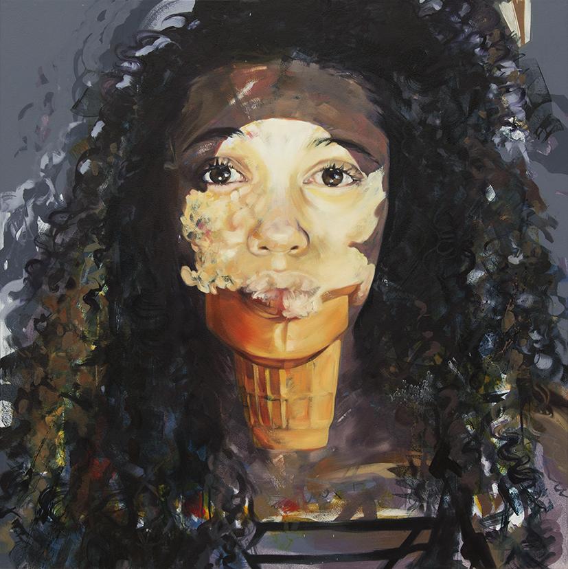 "Untitled. 2016. Oil on panel. 47"" x 47"""