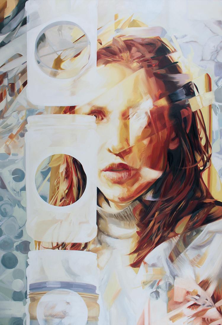 """Crunchy Jenny. 2015. Oil on panel. 48"""" x 33"""""""