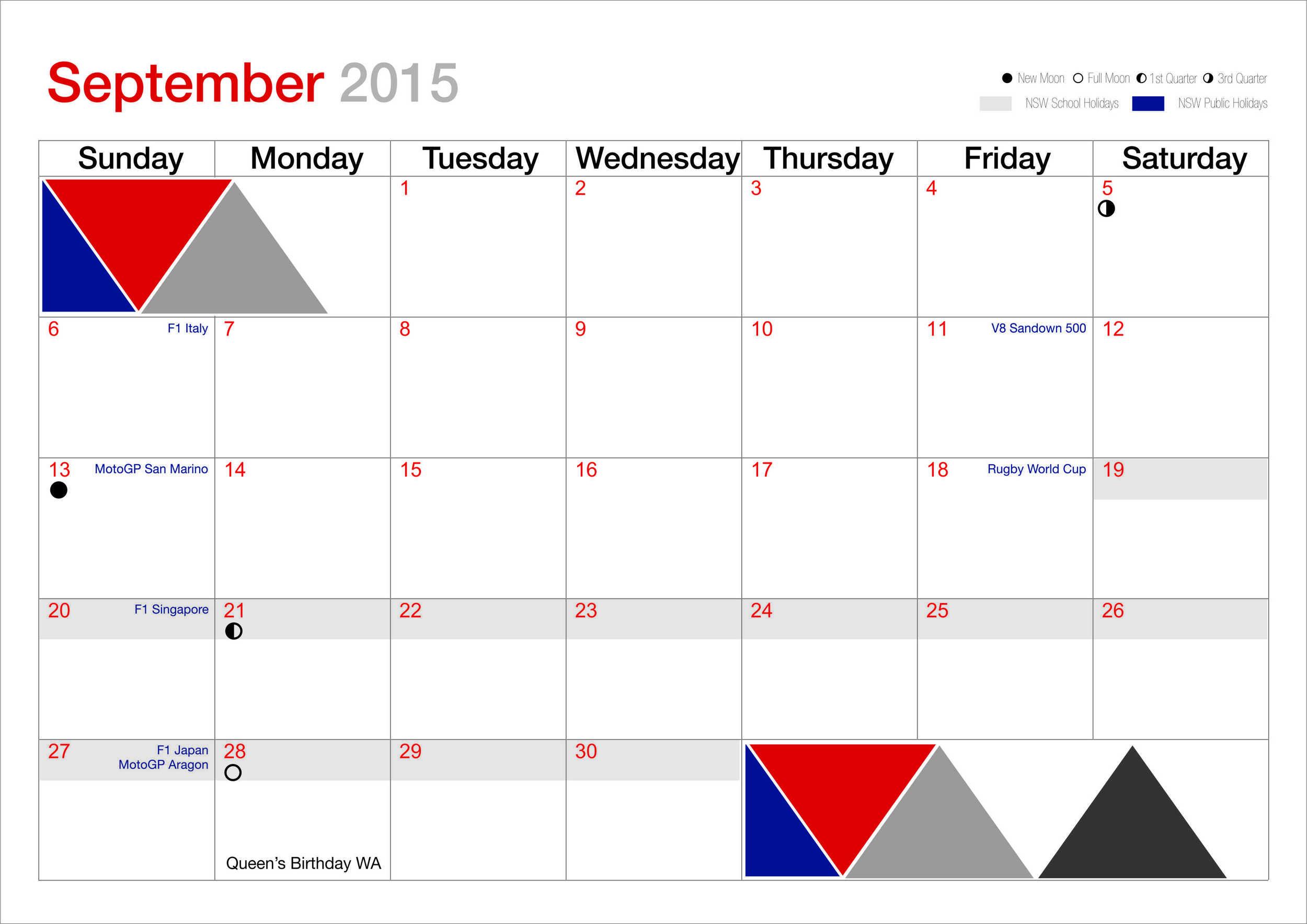 HG September calendar