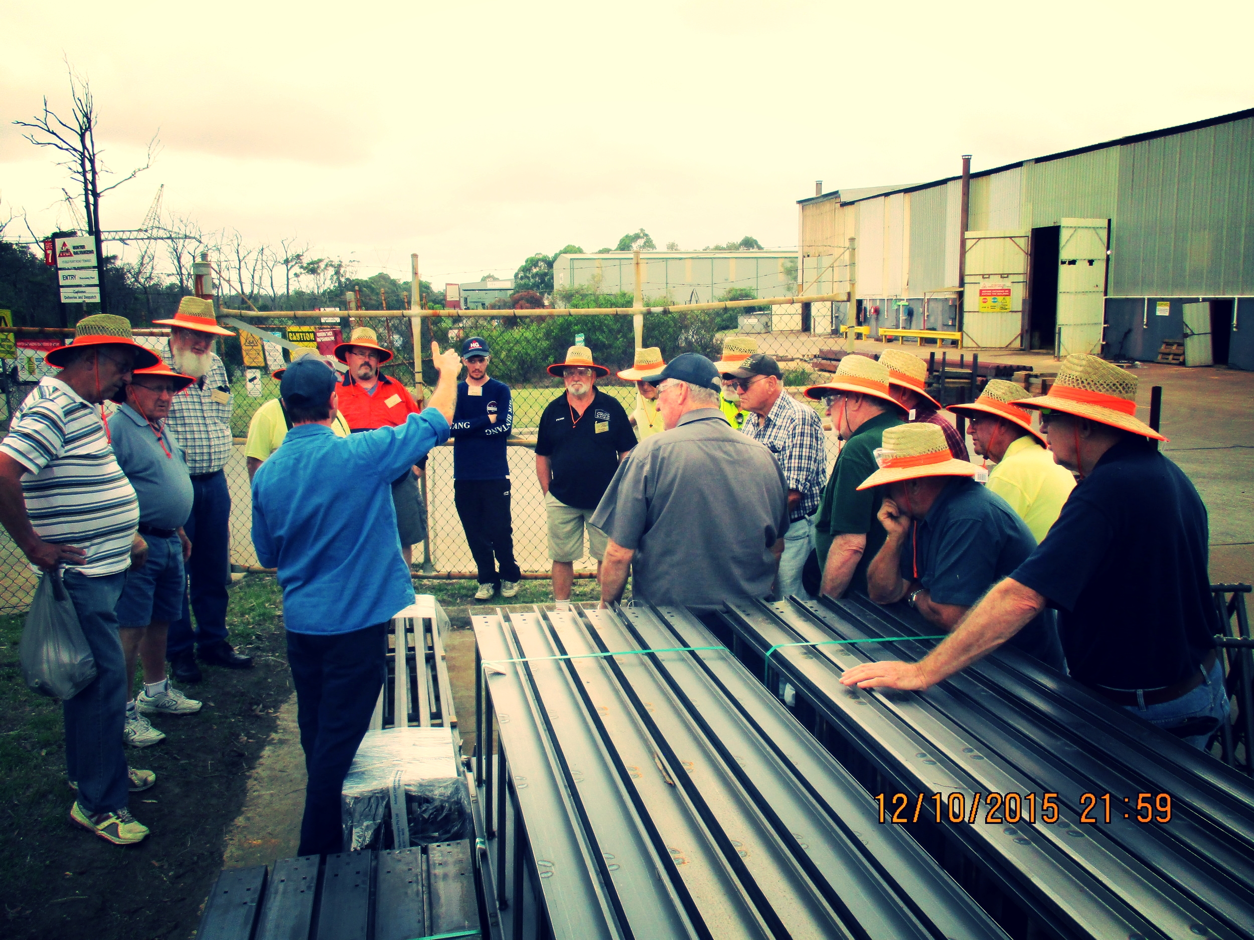 Raymond Terrace Men's Shed at Hunter Galvanizing.JPG