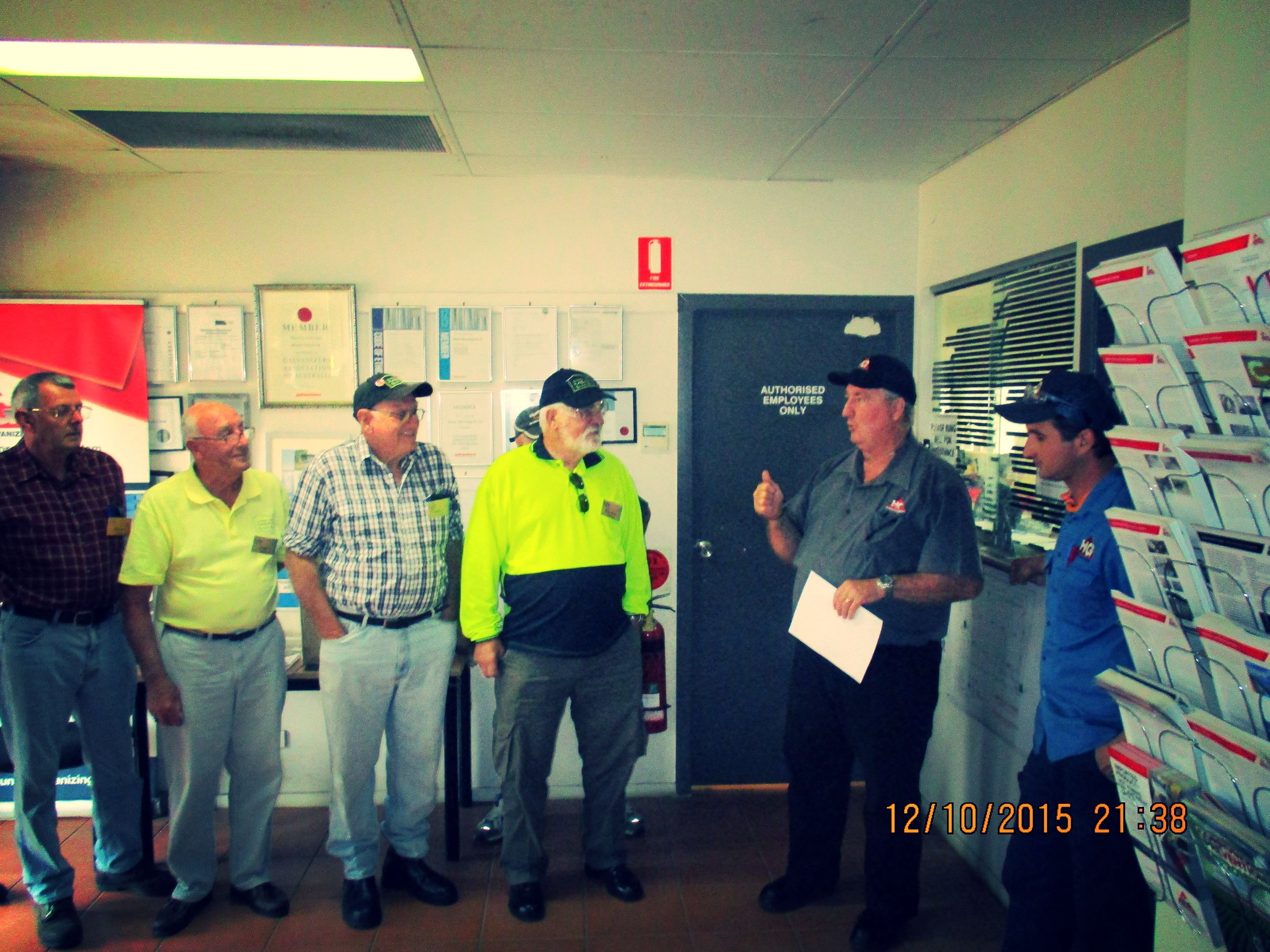 Raymond Terrace Men's Shed inducted into Hunter Galvanizing.JPG