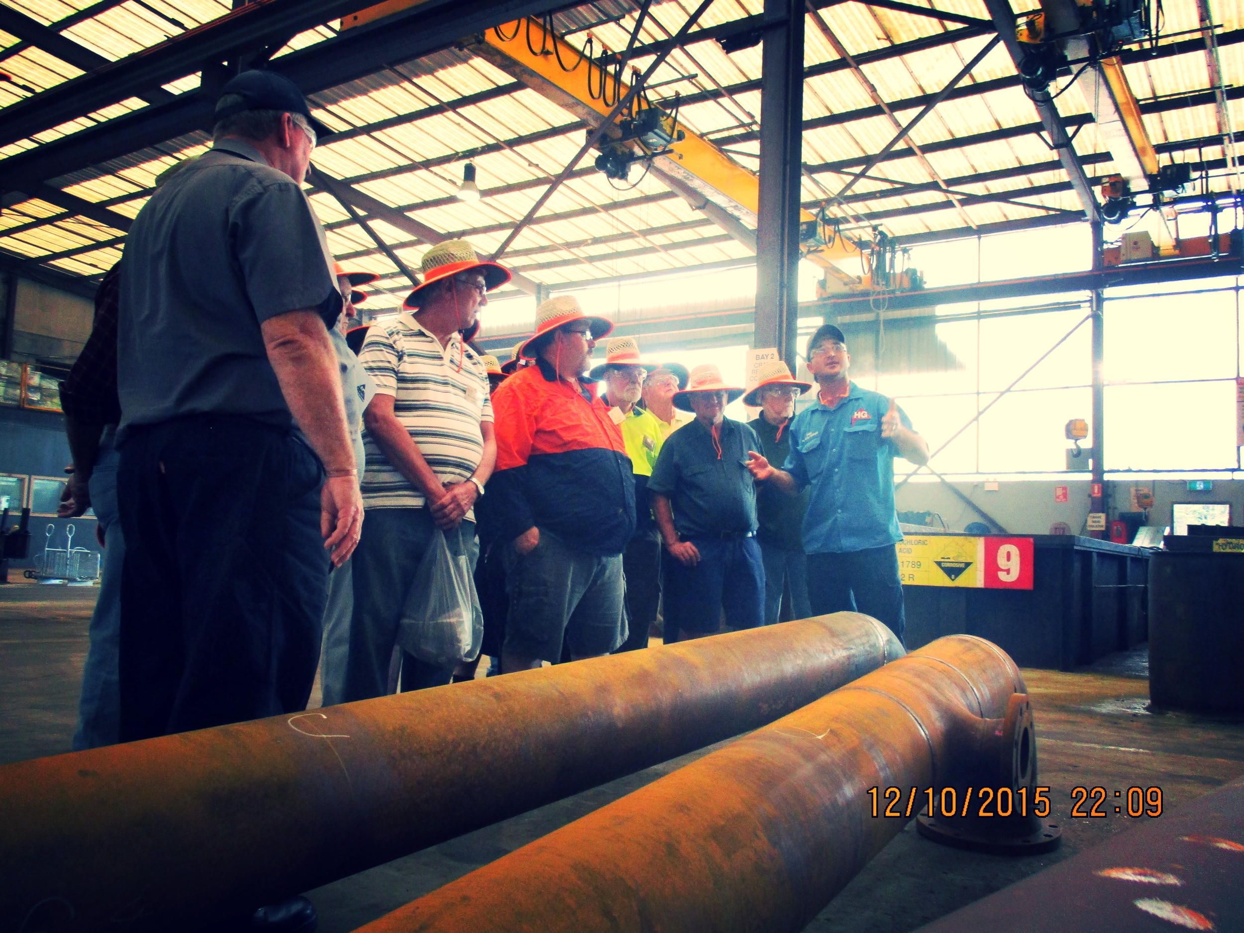 Raymond Terrace Men's Shed tour of Hunter Galvanizing.JPG