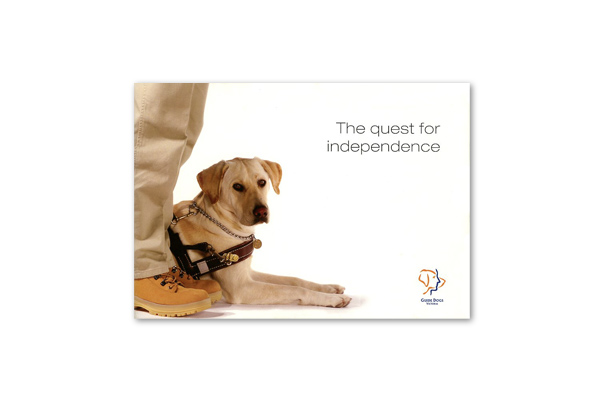 Guide Dogs Victoria asked us to produce a bequest brochure. Our involvement included concept development, design, photography art direction, photo retouching, layout and print management.