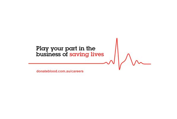 Australian Red Cross Blood Service online recruitment ads tagline