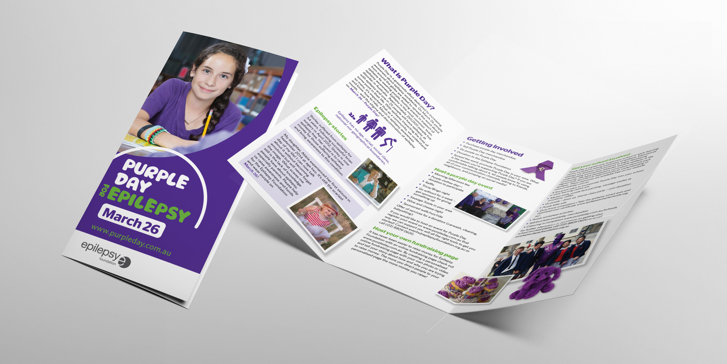 Epilepsy Foundation of Victoria Purple Day support brochure