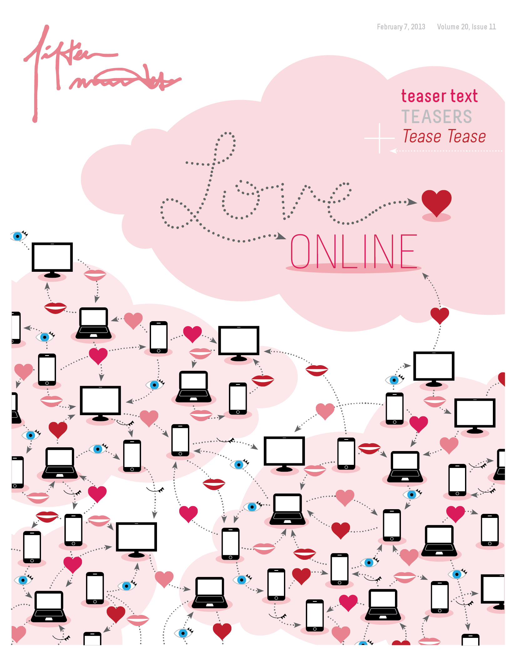 Fifteen Minutes Magazine Love Online Cover