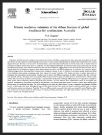 Diffuse Fraction Solar Energy