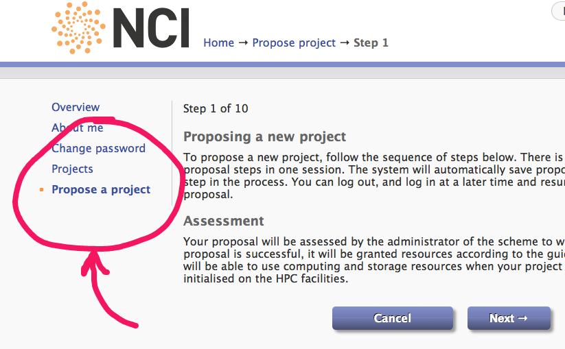 NCI propose