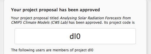 NCI Project approval