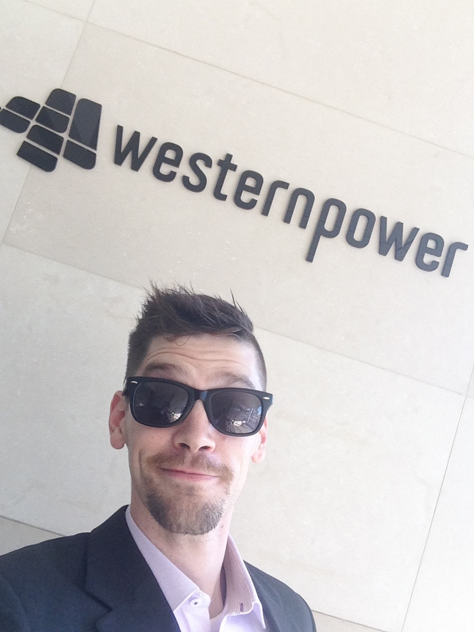A selfie from my April 2016 visit with Western Power
