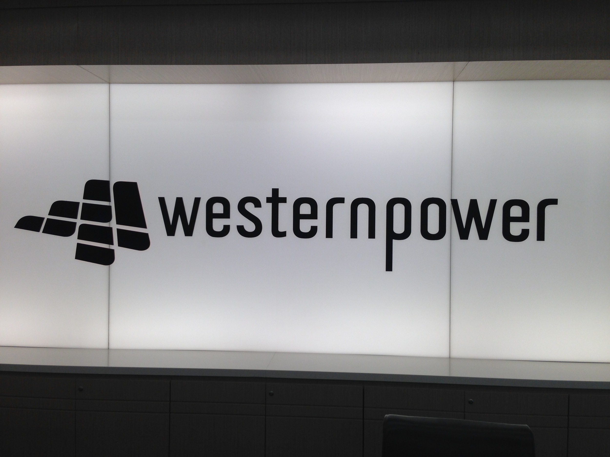 Photo taken in lobby of Western Power's Head Office in Perth CBD