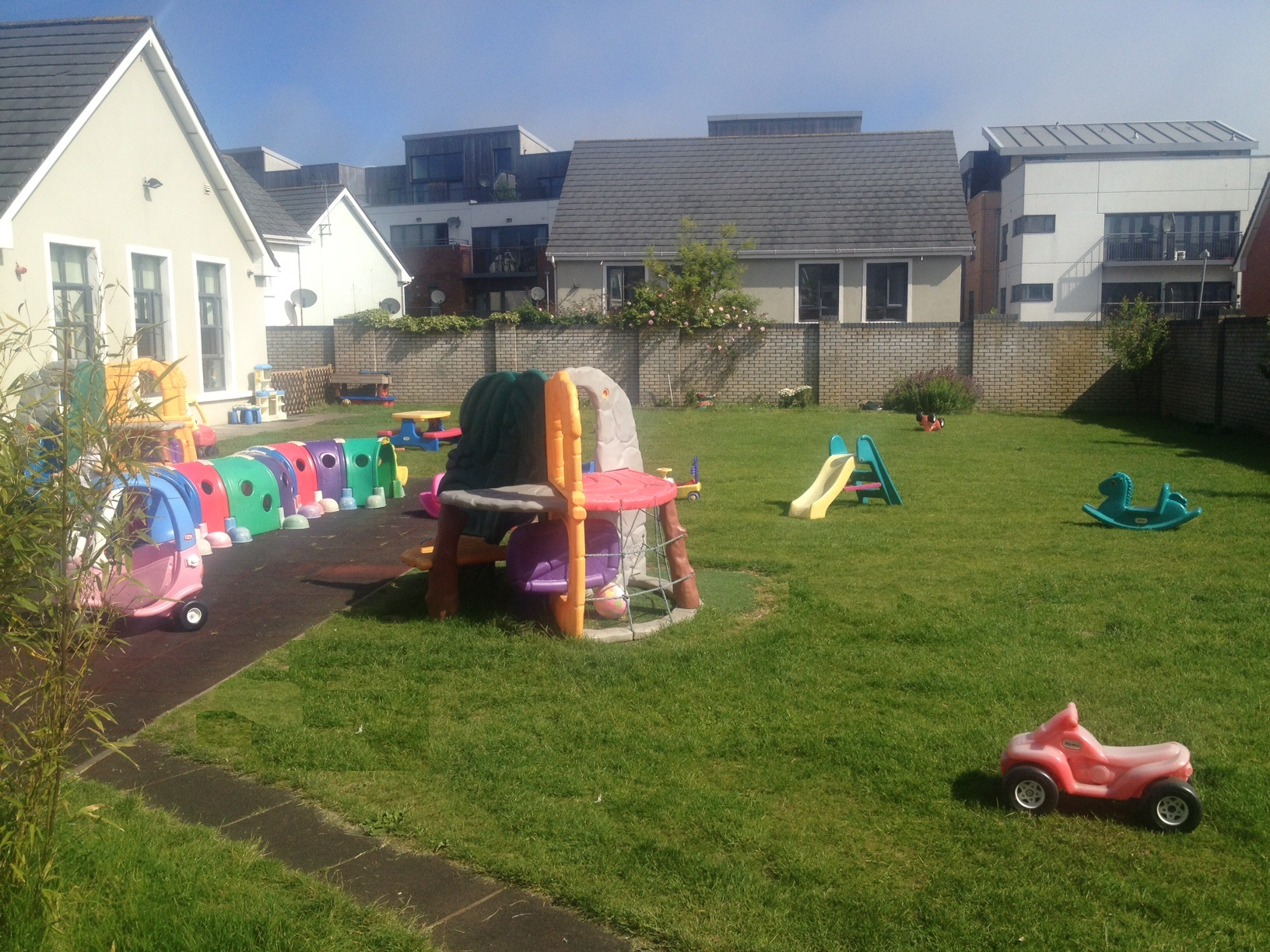 Our Fantastic Large Secure outdoor play area