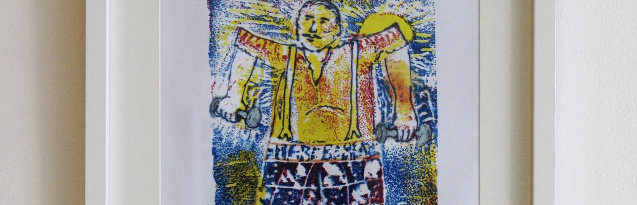 One of Paul Henegan's prints in 'Nine'.
