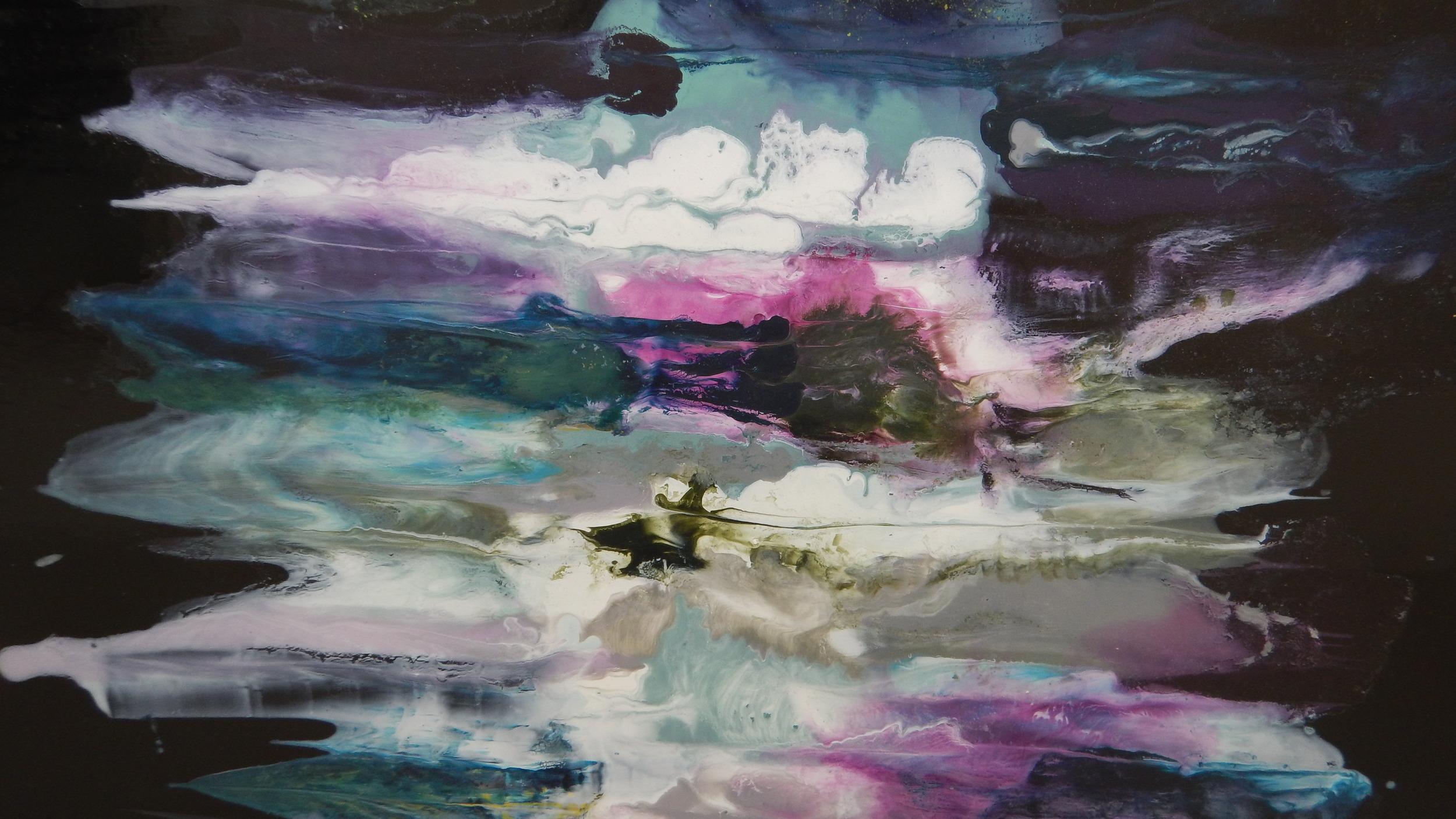 A close-up of Sian Egan's work