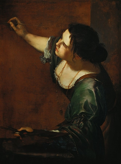 Artemisia Gentileschi,    Self- Portrait as the Allegory of Painting (La Pittura) , 1638-1639, oil on canvas, 98.6 x 75.2, Royal Collection (Currently on show at the Royal Academy in the  Charles I: King and Collector  exhibition).