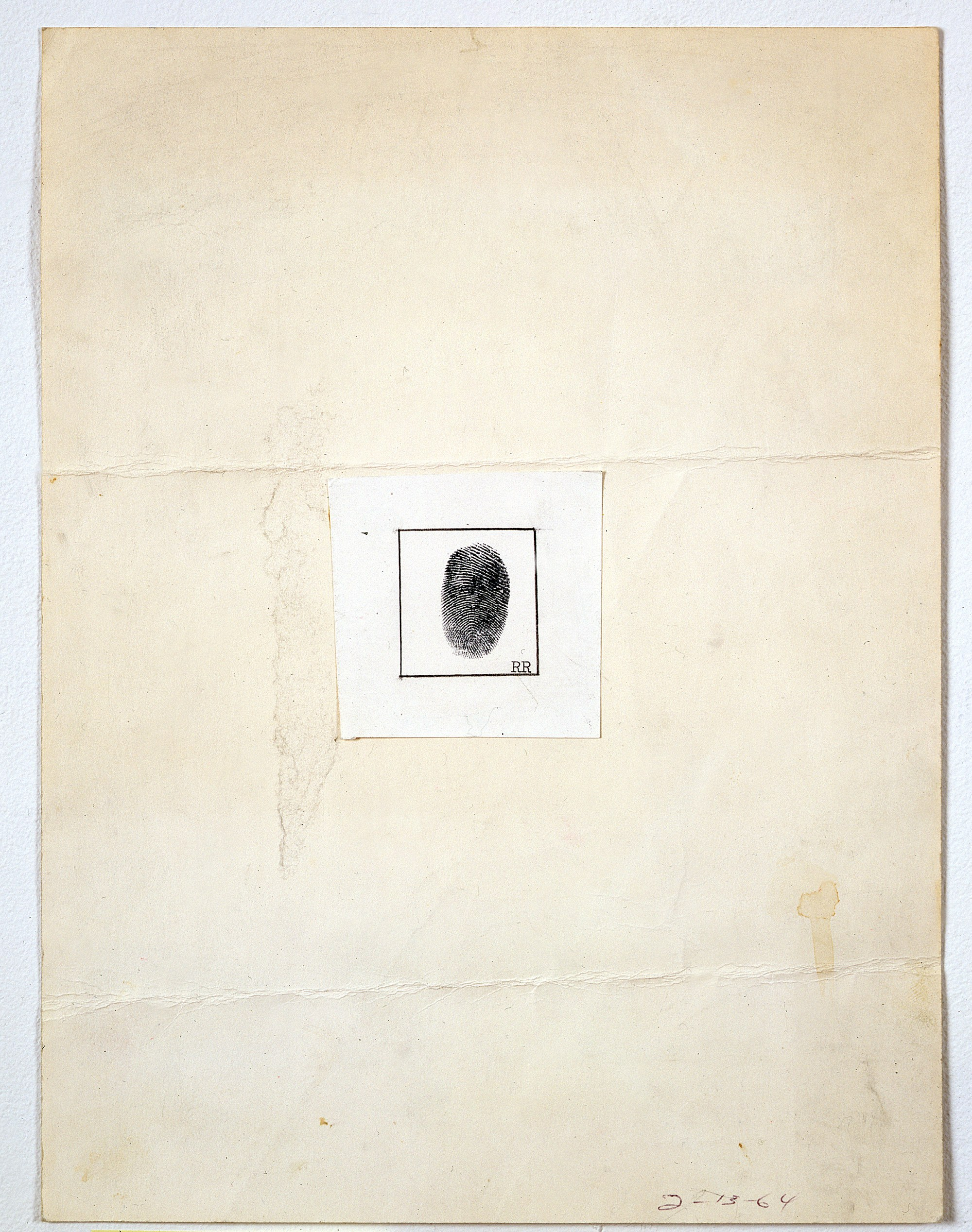 Robert Rauschenberg,  Self-Portrait (For the New Yorker Profile),  1964, ink and graphite on paper, (30 x 23 cm).