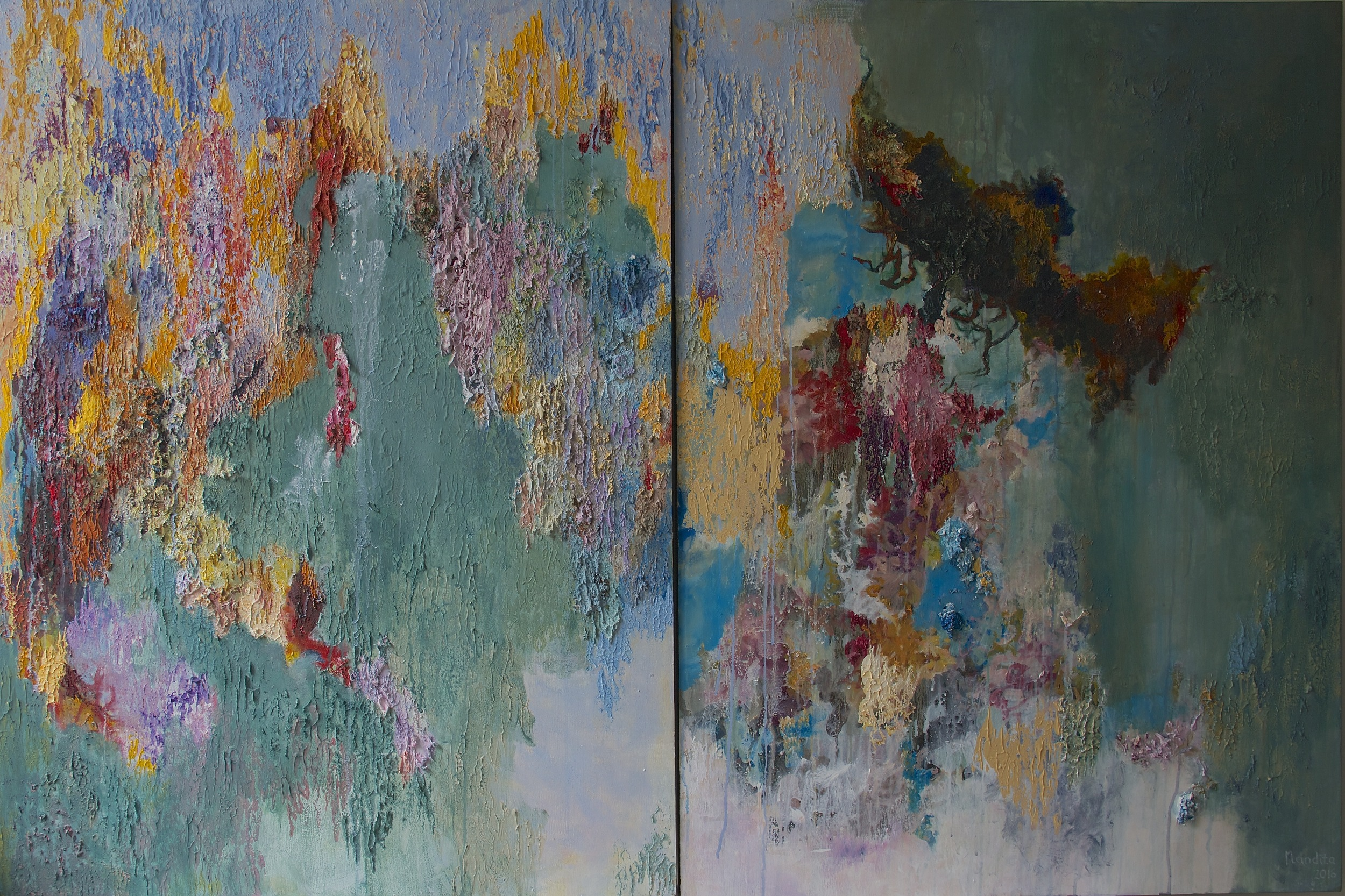 In the Balance of Heaviness - Diptych