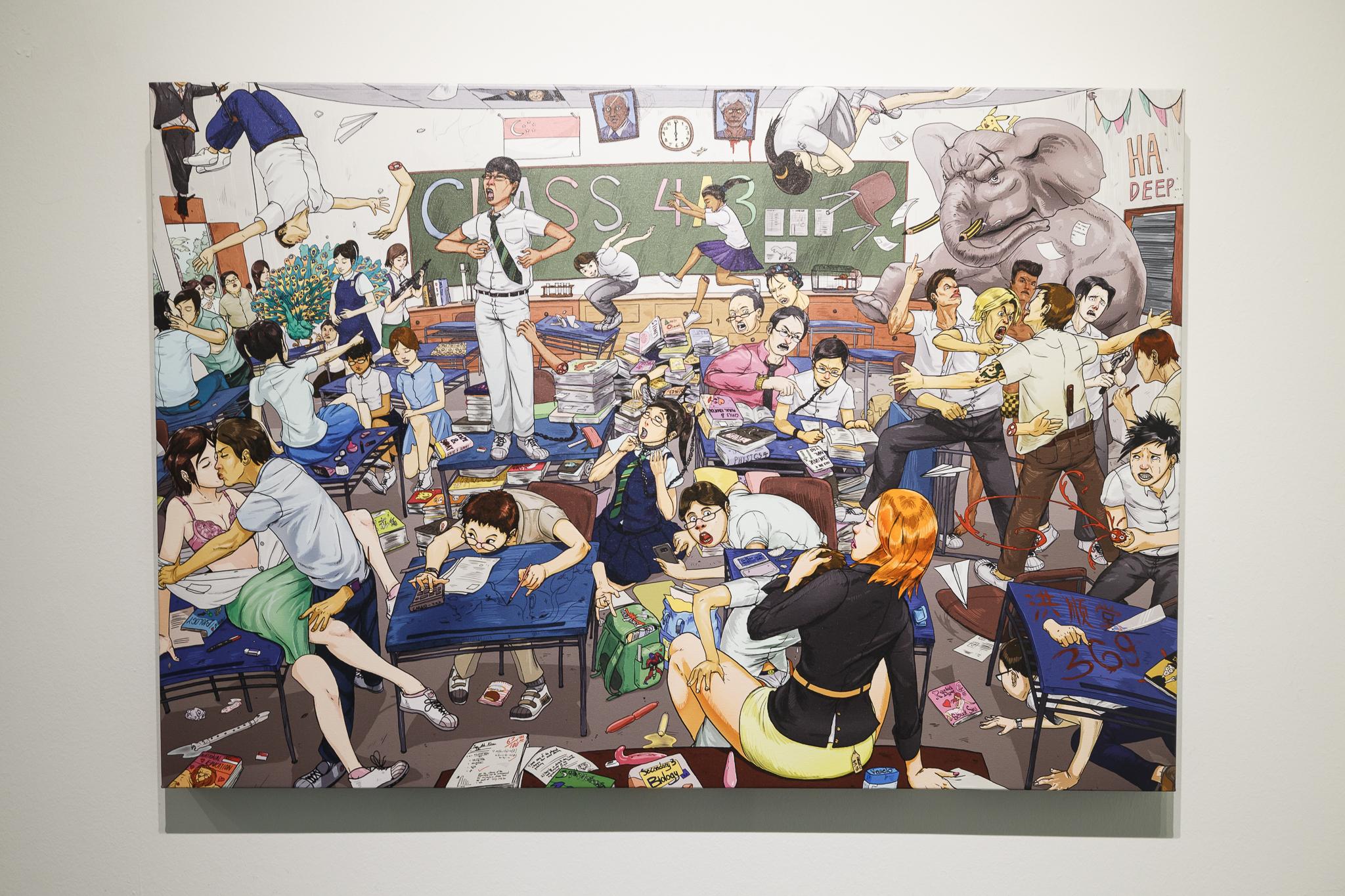 Dan Wong, Emmohee (MOE), 2013, Digital print on archival canvas