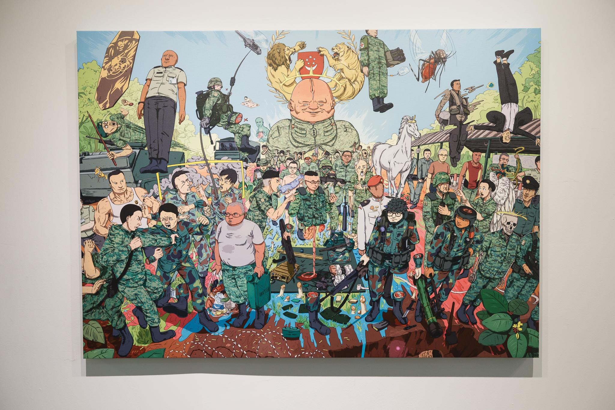 Dan Wong, Ennesseff (NSF), 2018, Digital print on archival canvas, 100 x 140 cm