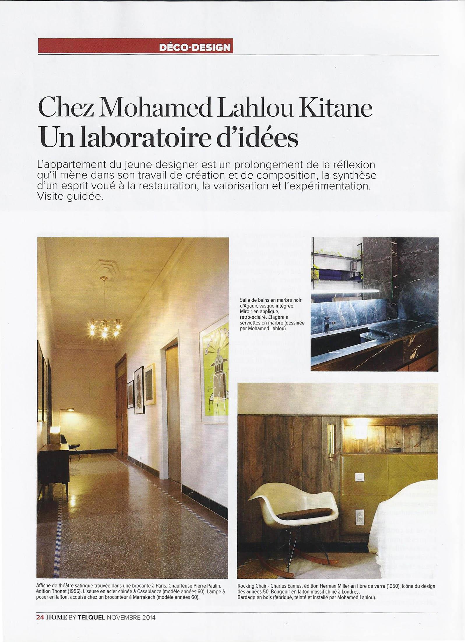 Idée Déco Appartement Jeune presse — mohamed lahlou kitane / mlk / architecture et design