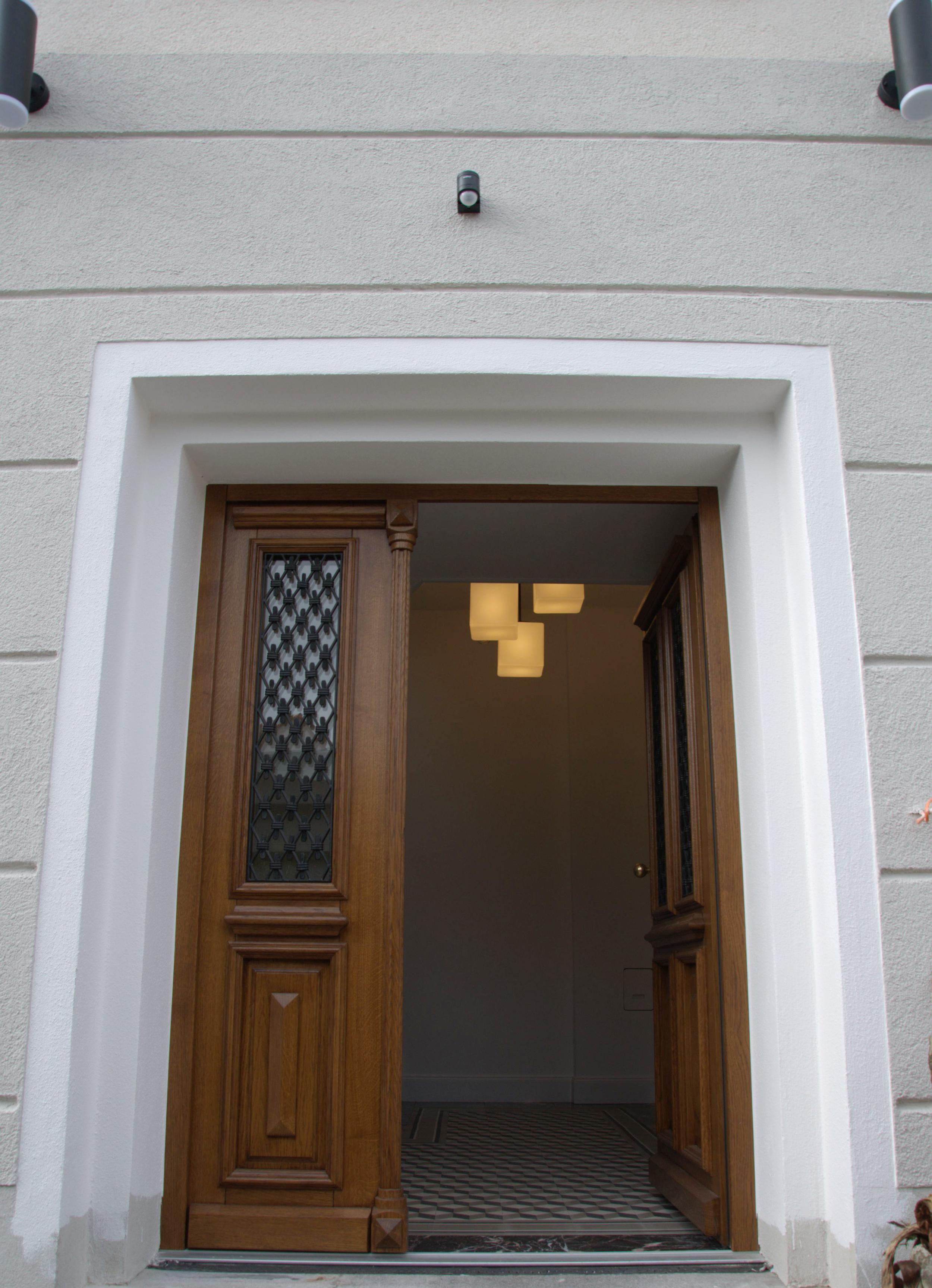 Eingang zur Villa in historische Fabrik bei Frankfurt