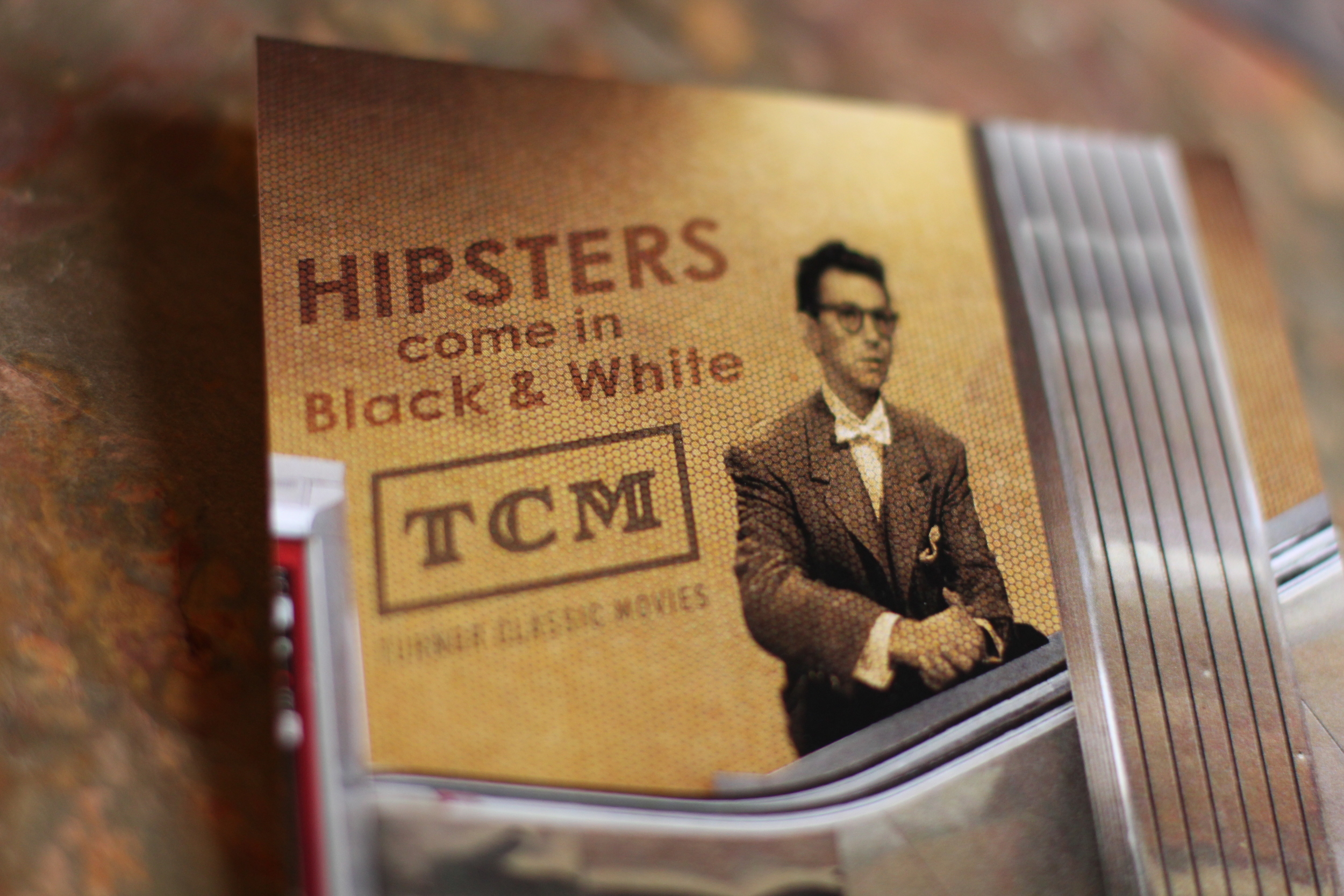 "TCM (Turner Classic Movies) Ad Campaign Poster Series ""Hipsters come in Black & White"" Original Copy *For School Use Only *Photographs of piece by: Alexander Suder"