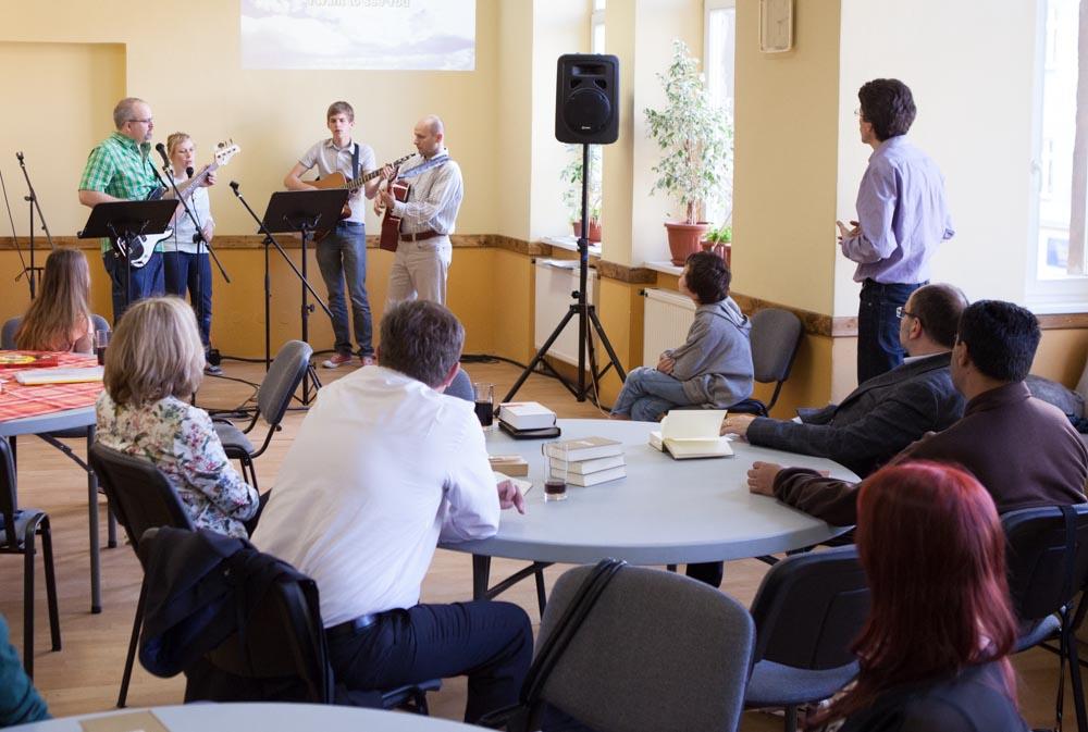 Our Sunday meeting at Klatovská 28.