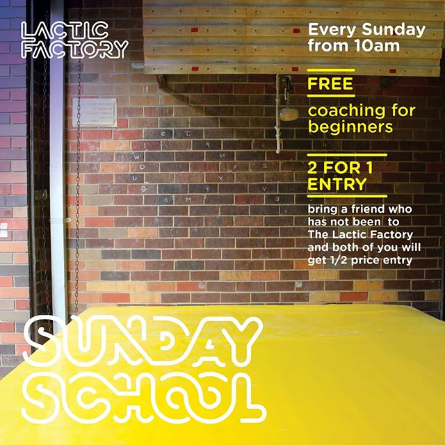 SUNDAY SCHOOL AT THE LACTIC FACTORY | EVERY SUNDAY FROM 10AM | Come down to the gym and get bouldering enlightenment with @Coach.Garry. #bringyoursunnies ___ #thelacticfactory #northsideboulders #northsidecrew #lacticcrew #lacticfactory #lacticsundayschool #sundayschool #sundayfunday #training #weekend