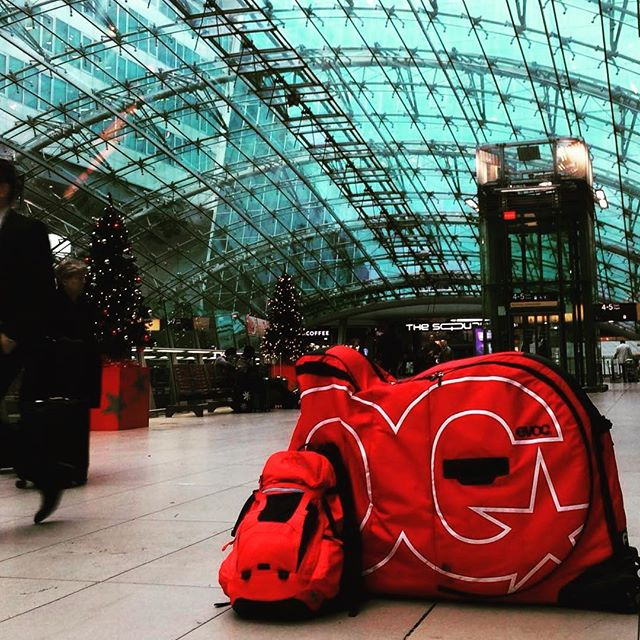 Bike bag in an airport . Going on a bike trip? If you live in Toronto/GTA or Metro Vancouver then contact us to rent an EVOC bike travel bag (regular or XL) from $50/week. . #mtb #mountainbike #roadie #roadbike #fatbike #fixie #commuter #triathlon #tribike #cx #cyclocross #singletrack #vancouver #northvan #mtbbc #toronto #gta #burlington #mtbontario #biketrip #biketravel #bringyourbike #bikebag #bikebagrentals #evoc