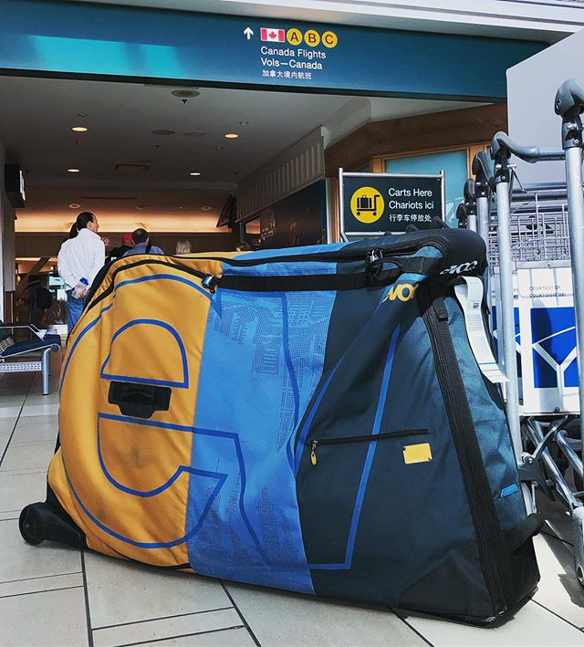 Going on a bike trip? If you live in Toronto/GTA or Metro Vancouver then contact us to rent an EVOC bike travel bag from $50/week. . #mtb #mountainbike #roadie #roadbike #fatbike #fixie #commuter #triathlon #tribike #cx #cyclocross #singletrack #vancouver #northvan #mtbbc #toronto #gta #burlington #mtbontario #biketrip #biketravel #bringyourbike #bikebag #bikebagrentals #evoc