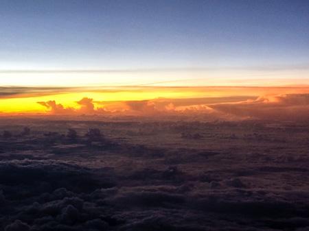Sky from plane window