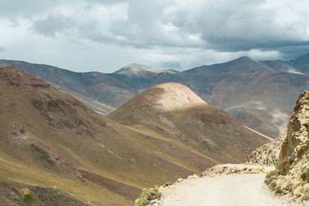Mountain road down from the pass, Puna, Argentina
