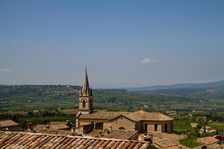 Luberon valley from Bonnieux