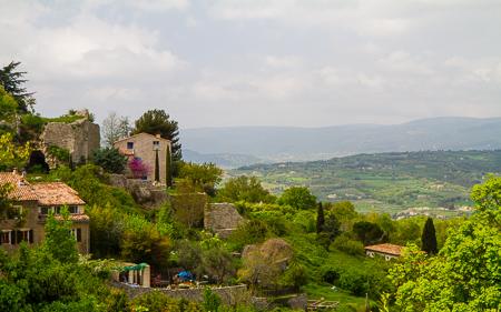 Luberon valley from Saignon