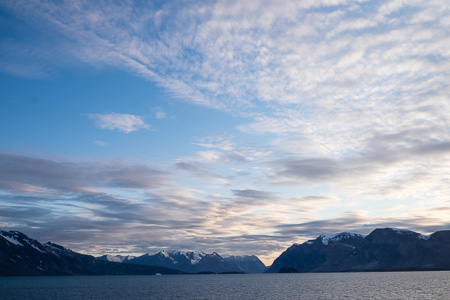 Evening light on the fjord