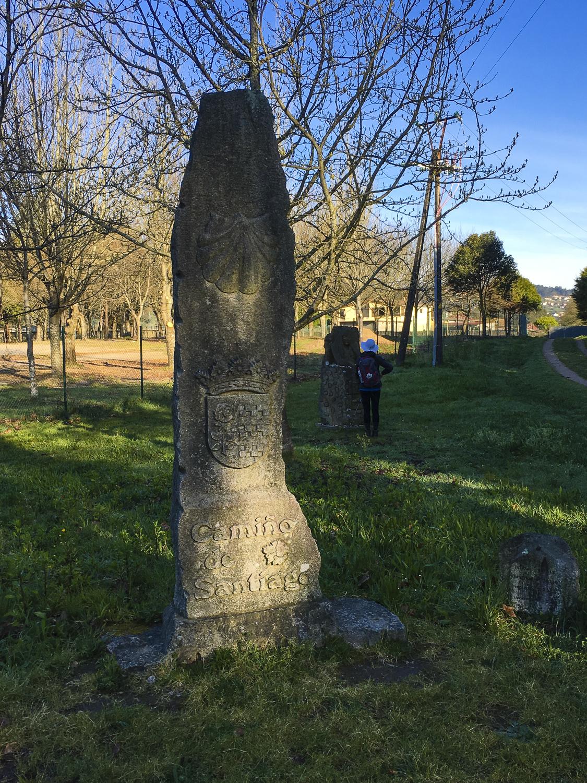 Old Camino way marker