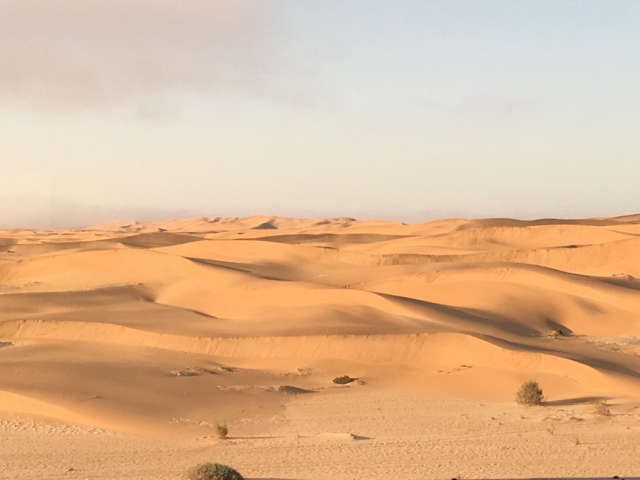 Dunes in Swakopmund from our hotel window