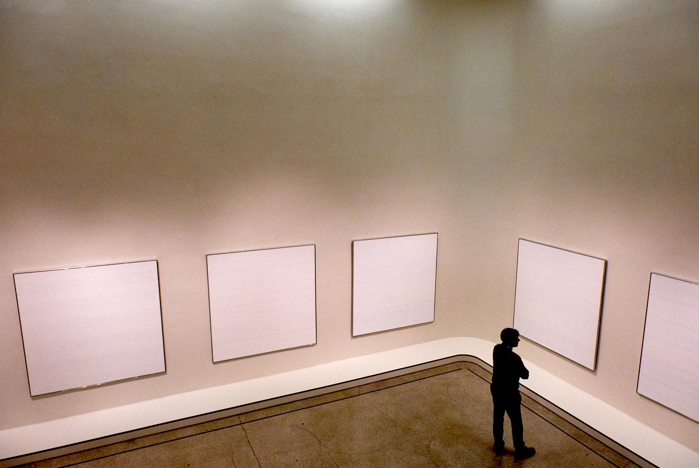Agnes Martin show at the Guggenheim