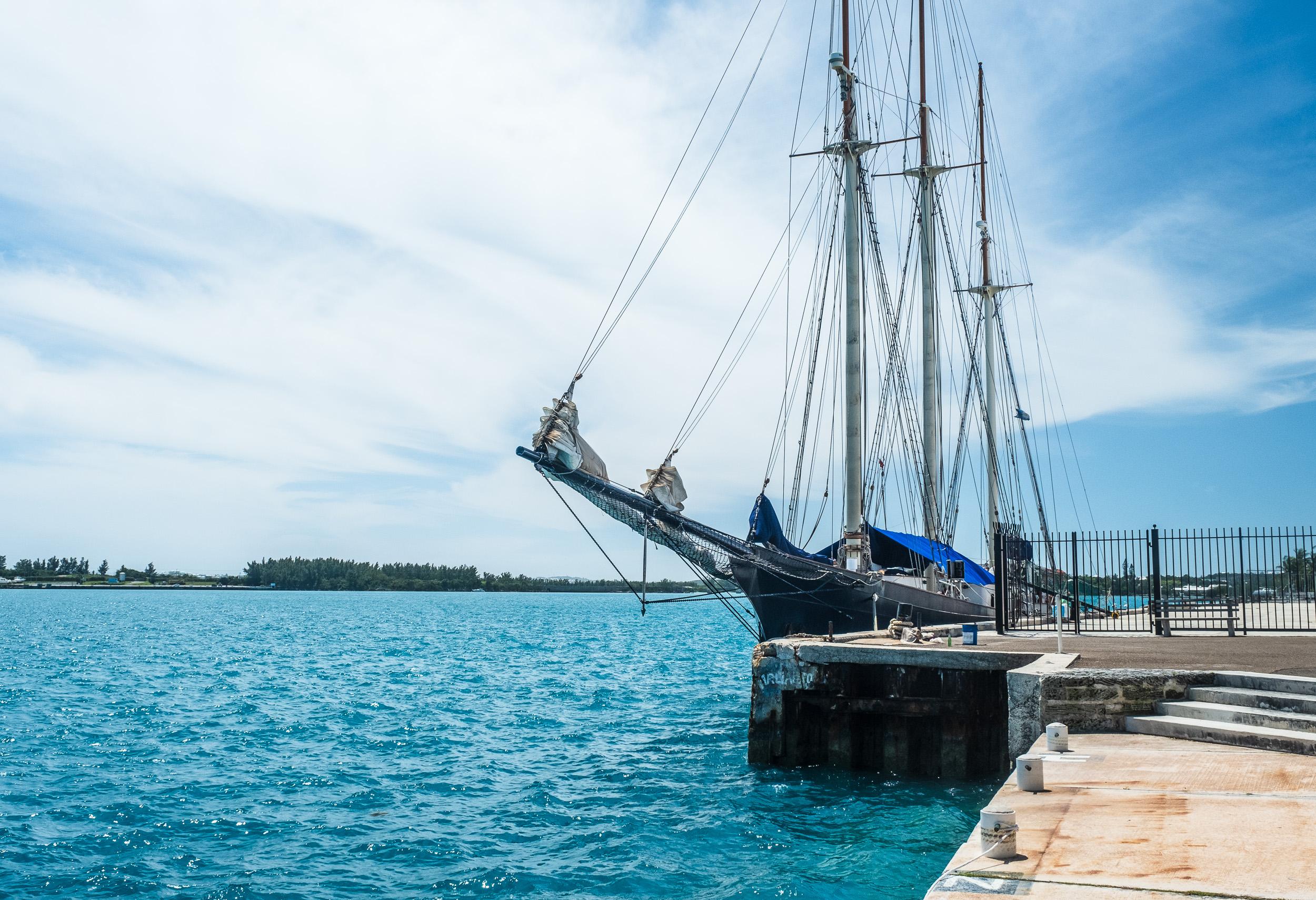Blue Clipper at dock