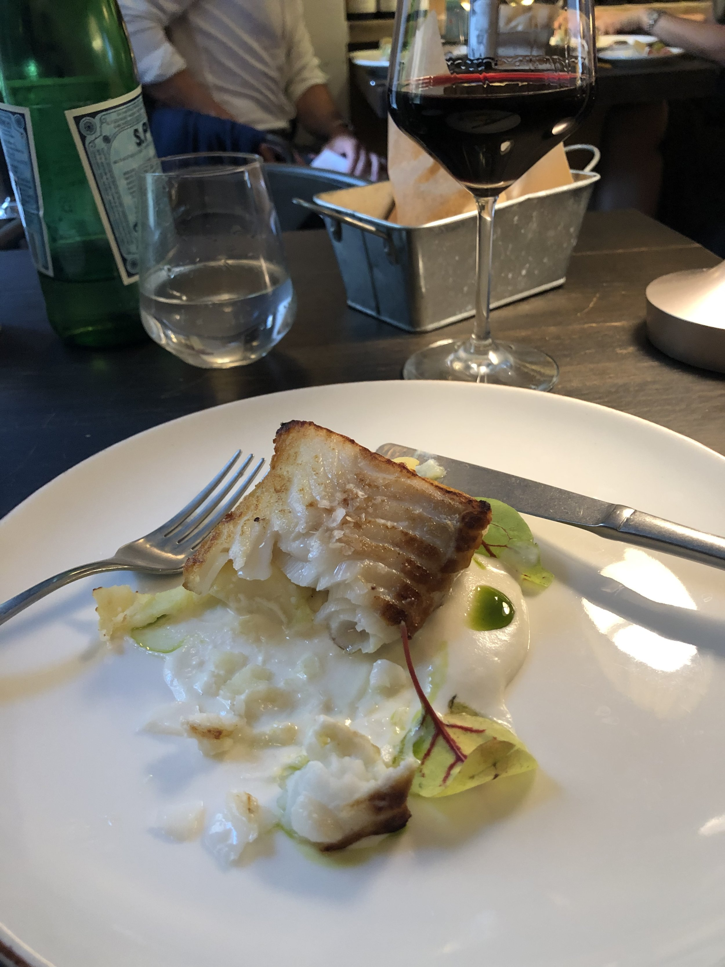 My cod at d'Alba. Never remember to shoot the picture before trying the dish!