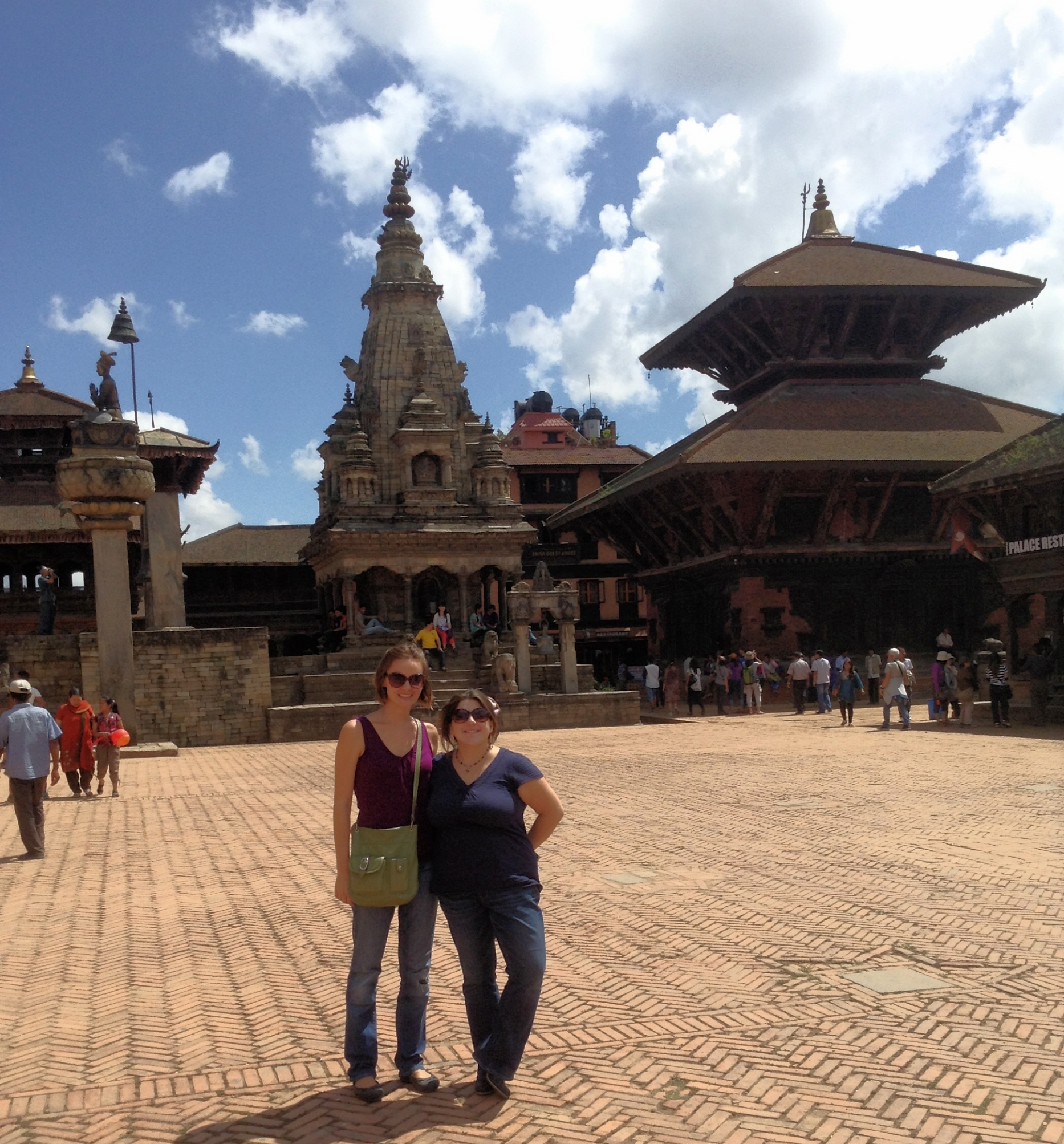 Bhaktapur Durbar Square with Katrina, the weather was amazing in September.